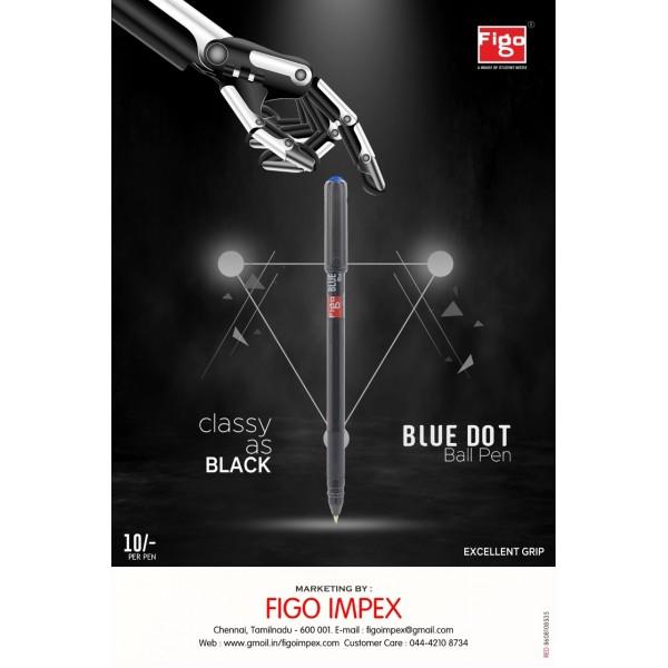Figo Blue Dot Ball Pen (Pack of 50)