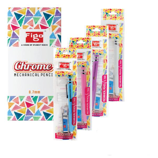 Figo Chrome 0.7mm Mechanical Pencil  (Pack of 10)