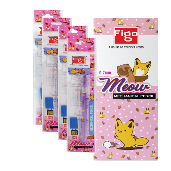 Figo Meow 0.7mm Mechanical Pencil  (Pack of 5)